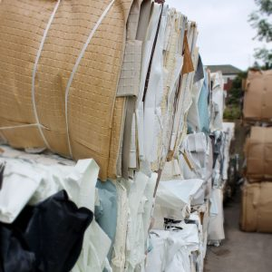 HPP baled cardboard for recycling