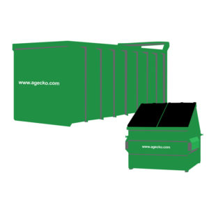 large containers and skips