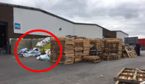 Un-organised site with diffrerent waste streams piled up